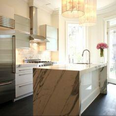 Modern marble kitchen. Gorgeous.