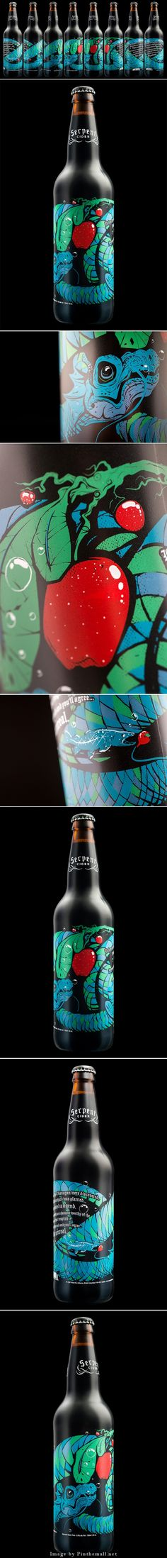 "Look at this awesome serpent cider ""billboard"" #packaging curated by Packaging Diva PD - created via http://hiredgunscreative.com/portfolio/serpent-cider/"