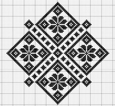 This Pin was discovered by Віт Biscornu Cross Stitch, Cross Stitch Charts, Cross Stitch Designs, Cross Stitch Embroidery, Embroidery Patterns, Cross Stitch Patterns, Appliques Au Crochet, Palestinian Embroidery, Pixel Pattern