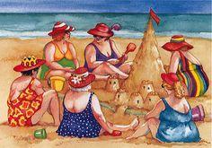 "HOMFUN Full Square/Round Drill DIY Diamond Painting ""Beach fat woman"" Embroidery Cross Stitch Mosaic Rhinestone Home Decor Plus Size Art, Art Impressions, Happy Family Photos, Fat Women, Beach Scenes, Summer Diy, Beach Art, Art Girl, Folk Art"