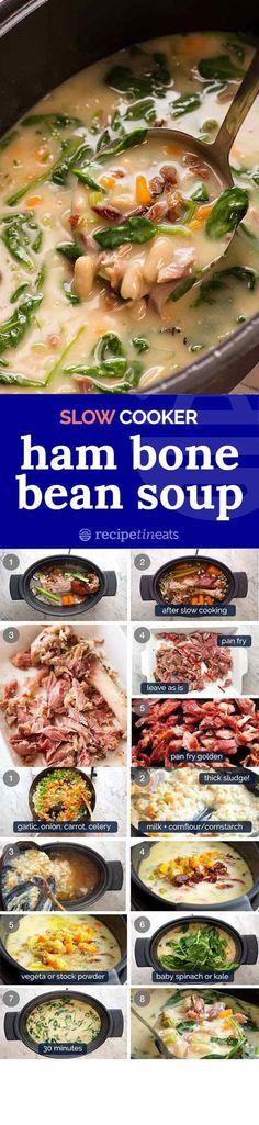 Best repurpose of leftover ham bone ever.  [ #beans #Bone #cream Soup Appetizers…
