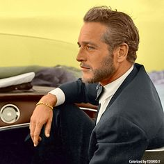 Paul Newman, a big role model during the 50s and pony boys generation.