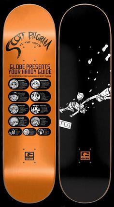 Win a Scott Pilgrim Skateboard/Blu-ray Combo Skateboard Parts, Skateboard Design, Skateboard Decks, Scott Pilgrim, Bryan Lee O Malley, Ramona Flowers, Vs The World, Skate Decks, Mini Things