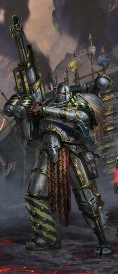 The art of Warhammer 40000 : Iron Warrior by Diego Gisbert Llorens Warhammer 40k Memes, Warhammer 40k Figures, Warhammer Art, Warhammer Fantasy, Warhammer 40000, Warhammer Models, Cyberpunk, Eternal Crusade, Science Fiction