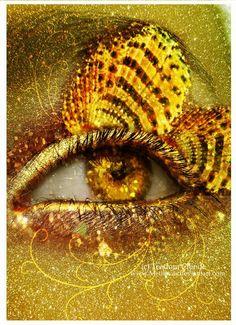Eye of the mermaid pinned with Bazaart