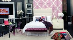 A Chic Tween Bedroom   Steven and Chris   Designer Tara Fingold shows us her take on a chic but girly tween bedroom.