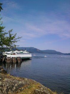 Ferry Landing, Lopez Island. Summer time.
