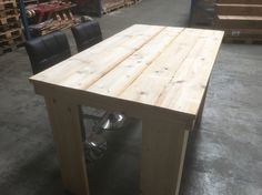 Scaffolding table I made for a co worker to put bar stools under it