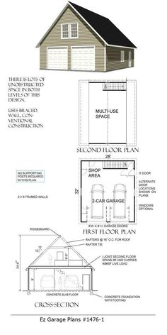 Designer craftsman shtyle garage plans d no 952 11r 34 x 28 ez garage plans solutioingenieria Choice Image