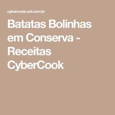 Batatas Bolinhas em Conserva - Receitas CyberCook