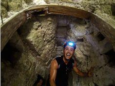 Exploring inside Mayan ruins in El Mirador Guatemala