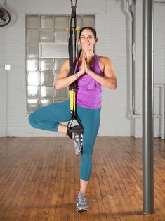 3. Tree Pose #trx #yoga http://greatist.com/move/trx-yoga-workout