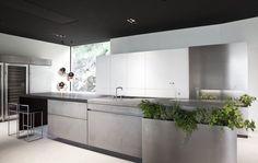 Modern Stainless Steel Kitchen with Herb Garden | Remodelista