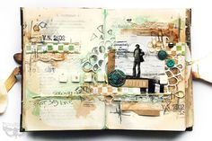 Crafting ideas from Sizzix UK: Art Journaling with Thinlits - vintage love...