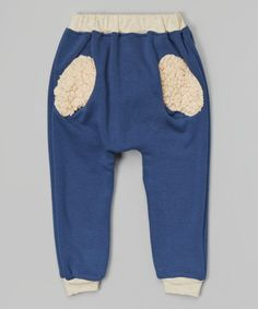 Take a look at this Blue Fuzzy Pocket Jogger Pants - Infant, Toddler & Kids on zulily today!