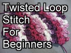 Beginner Crochet Stitches 36 - Twisted Loop Stitch - Crochet Tutorial - YouTube