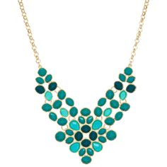 Kirra Tate Teal Bib Necklace -- @alissa m are you still on the lookout for necklaces? I like this one for you!