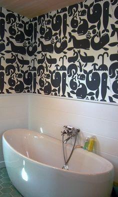 Kid's bathroom wallpaper