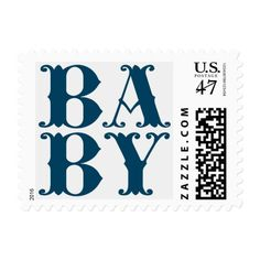 Baby Boy New Baby Announcement Postage Stamp