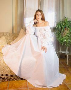 Bridal Nightgown, Vintage Nightgown, Vintage Dresses, Cotton Lingerie, Bridal Lingerie, Boho Chic, Bohemian, Regency Dress, Gown Photos