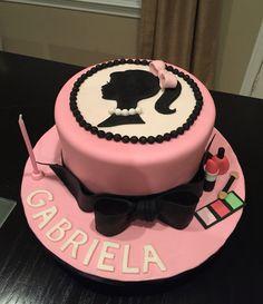 Barbie themed cake