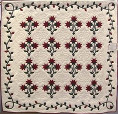 Hand Applique, Applique Quilts, Hand Quilting, Quilting Ideas, Quilt Patterns, Green Quilt, Amish Quilts, Silky Touch, Custom Quilts