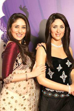 BB3000  Kareena Kapoor wore this fantabulous Light Cream Net Embroidered saree to Madam Tussaud Museum. $75.39 Buy Now