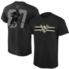 Sidney Crosby Pittsburgh Penguins Levelwear Youth Heathered Classic T-Shirt - Black
