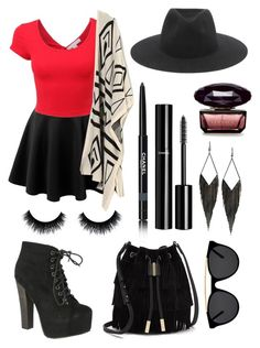 """""""""""Everybody Rise Up!~"""" XD"""" by chocolatelover15 ❤ liked on Polyvore featuring Breckelle's, Vince Camuto, rag & bone, Smoke & Mirrors, GUESS and Chanel"""