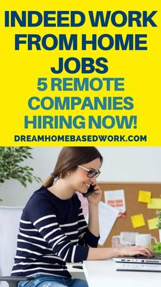 You can find a wide range of flexible part-time, full-time, and non-phone work from home jobs on Indeed. Check out these 5 legitimate remote companies hiring now! #workfromhome #jobs #hiring #earnmoneyfromhome #indeed Virtual Jobs, Virtual Assistant Jobs, Work From Home Companies, Work From Home Jobs, Companies Hiring, Jobs Hiring, Home Based Work, Customer Service Jobs, Typing Jobs