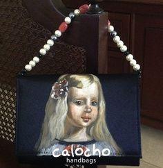 Las Meninas de Velazquez plasmadas en mis 'Petit Clutch' ahora con cadena de piedras.