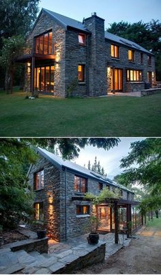 Modern farmhouse exterior design reflects the entire style of the space and the tradition as well. Revamping a farmhouse exterior can be very costly most of the time, depending on the chosen design. Modern Farmhouse Exterior, Farmhouse Ideas, Farmhouse Design, Farmhouse Small, Farmhouse Windows, Farmhouse Inn, Cottage Design, Farmhouse Table, Stone Houses