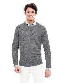 Linen Crew Pullover