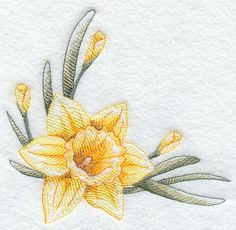 embroidery daffadills | ... Embroidery Designs at Embroidery Library! - Dashing Daffodils Corner