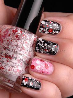 #KBShimmer Candy Cane Crush #nails