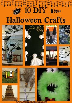 10 DIY Halloween Crafts - Mrs. Monologues