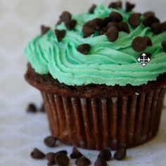 Mint Chocolate Cupcakes w/ Mint Buttercream Frosting