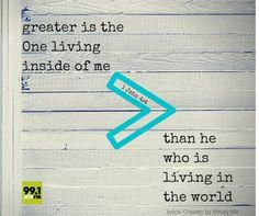 He's greater! www.joyfmonline.org