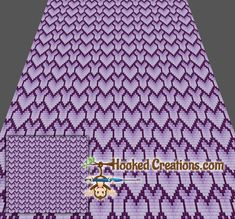 Stacked Hearts C2C King Blanket Crochet Pattern - PDF Download