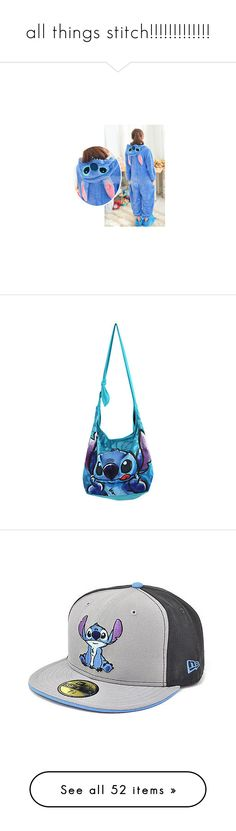 """""""all things stitch!!!!!!!!!!!!!"""" by desyrae-carstensen ❤ liked on Polyvore featuring costumes, cosplay halloween costumes, adult halloween costumes, adult animal halloween costumes, fancy costumes, role play costumes, bags, handbags, shoulder bags and disney"""