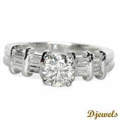 <p>Diamond Engagement Ring in Hallmarked White Gold.</p><br /><p>Solitaire Weight - 0.88 Ct .</p><br /><p>Solitaire Color - J .</p><br /><p>Solitaire Clarity - SI</p><br /><p>See more Engagement Rings from our 10,000+ Stunning Diamond Jewellery Designs</p> [Rs    148,049]