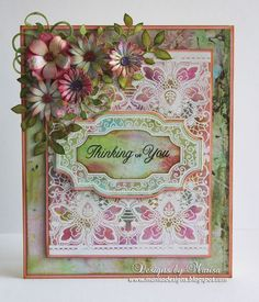 Floral Lace Vintage Tag Cling Background Stamp and vintage tags