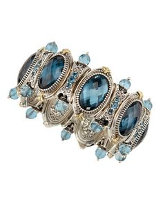 Sterling Silver & 18K Gold London Blue Topaz Bracelet by Konstantino at Neiman Marcus Last Call.