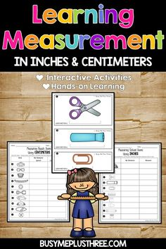 Measuring in Centimeters and Inches Cards, Grade Common Core, Stations Nonstandard Measurement, Measurement Activities, Interactive Activities, Hands On Activities, Math Activities, Third Grade Math, Second Grade, Math Stations, Math Centers