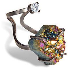 Delfina Delettrez for Fendi Crystal Ring #ring #druzy #jewellery