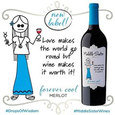 Got a crush on Forever Cool Merlot? She's all about the love, and the peace, and the wine…just like her new Drop of Wisdom! Her new label is in stores now and she's just waiting there for you to love her. Use our version of a dating app, where we'll hook