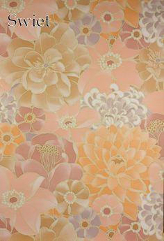 Retro behang met bloemen | Swiet