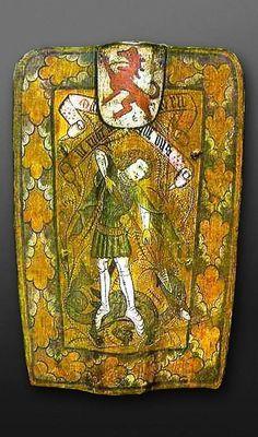A German Pavise, circa 1480-1490   Housed: Deutsches Historisches Museum, Berlin  Published: Unknown  Photo copyright: Deutsches Historisches Museum, Berlin