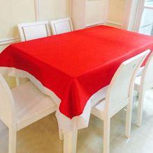 132*178 cm Decorações de Natal Toalha de Mesa Super Longo de Natal Toalha De Mesa De Natal Pano de Mesa de Piquenique Vermelho Branco-fronteira EY11(China)