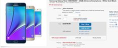Samsung's Galaxy Note 5 is currently available over on eBay for just $199. That's a great price for a great smartphone.Samsung Galaxy Note 5 Best Deals